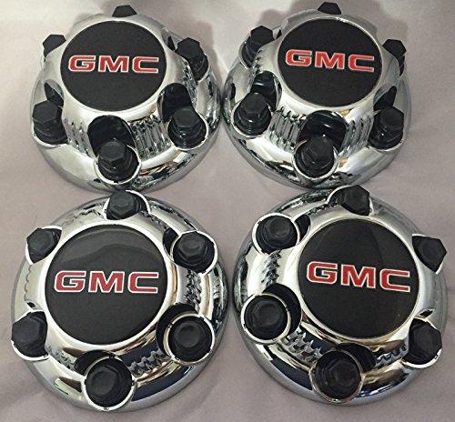 REPLACEMENT PART: Set of 4 Chrome GMC Sierra Yukon Savana 6 Lug 1500 Center Caps 16