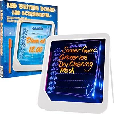 LED Writing Menu Message Board by Trademark HomeT - White