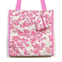 French Pink and White Toile Tote Bag Purse