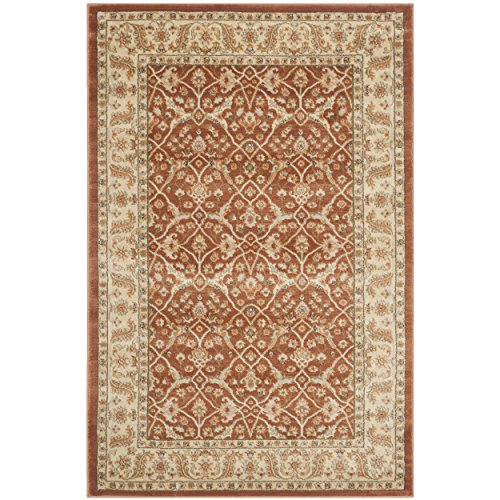 Safavieh Florenteen Collection FLR126-3412 Rust and Ivory Area Rug, 4 feet by 6 feet (4' x 6')