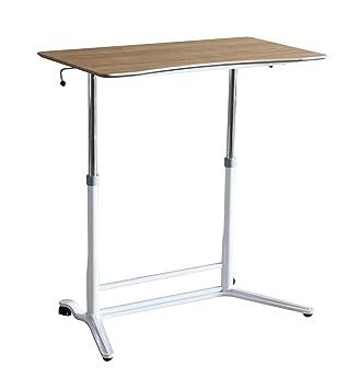 Ergoneer Affordable altezza regolabile Sit a stare Area di lavoro - altezza manualmente controllabile Standing Desk per lavoro sano - mobile workstation permanente per i molteplici usi (Naturale)