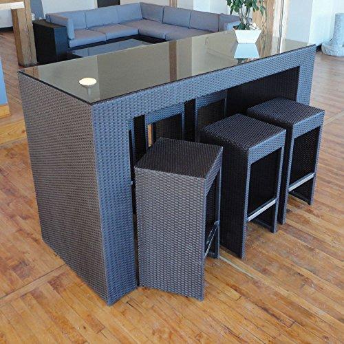 Margarita Outdoor Wicker Patio Furniture High Top Bistro