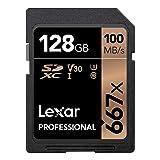 Lexar Professional 667x 128GB SDXC UHS-I/U3 Card (LSD128BNA667) (Tamaño: 128GB)