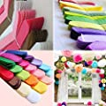 HKBAYI® 5pcs/lot Pink 2 Sizes Hanging tissue paper pom poms flowers rose balls birthday/baby shower/wedding decorations party supplies