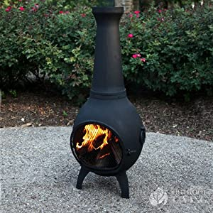 Chiminea Outdoor Fireplace Blue Rooster
