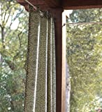 "84""L Olefin Outdoor Grommet-Top Curtain Panel, In Green Circles"