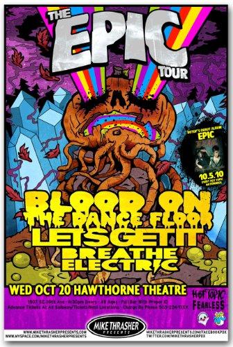 Blood on the Dance Floor Poster - Epic Concert Flyer BOTDF