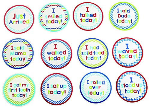 Mud Pie Milestone Stickers, Boy