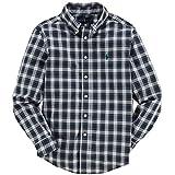 【ジュニアサイズ】Ralph Lauren(ラルフローレン) 長袖タータンチェックワンポイントボタンダウンシャツ(White/Green) L(14-16)160cm相当 [並行輸入品]