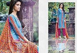Ganga Fashions Purple Printed Cotton Silk Fabric Designer Salwar Suit GE-7009-Summer Sonnet