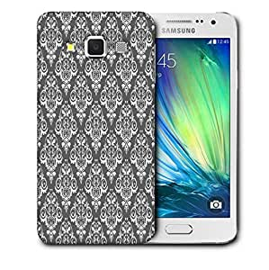 Snoogg White And Grey Pattern Printed Protective Phone Back Case Cover For Samsung Galaxy A3