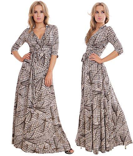 WINTER SALE! Elegant Ladies Maxi Party Dress Vintage Style Wrap Design 1