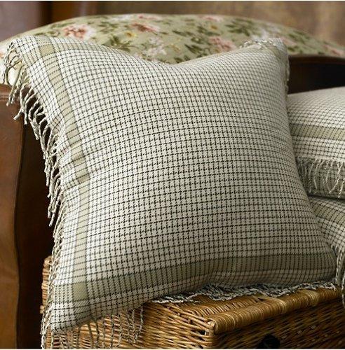 Lauren By Ralph Lauren Bedding Yorkshire Rose Green Plaid Wool Euro European Sham front-1011044
