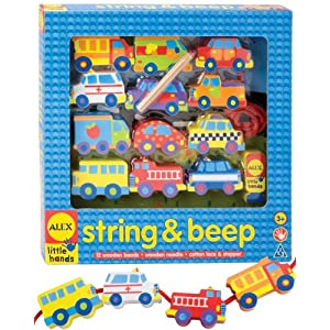Amazon.com: Alex Toys Wooden Stringing Sets - String and Beep: Toys & Games