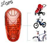 TKSTAR GPS Tracker for Bike Rechargeable LED Bike Light GPS Locator Tracking Device with Geo-Fence Real Time Tracking on Free App TK906