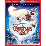 Disney's A Christmas Carol 3D (4-Disc Combo Pack) [3D Blu-ray + Blu-ray + DVD + Digital Copy]by Jim Carrey