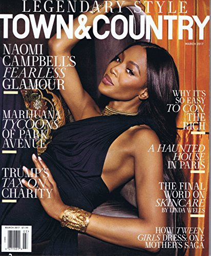 TOWN & COUNTRY March 2017 大きい表紙画像