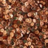 5mm CUP SEQUINS ~ Copper PREMIUM METALLIC ~ Loose paillette sequins for embroidery, applique, arts, crafts, bridal wear and embellishment. Made in USA