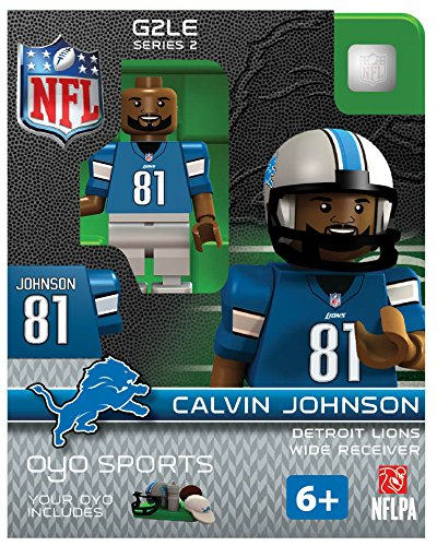Nfl Detroit Lions Calvin Johnson Gen 2 Mini Figure, Small front-586248