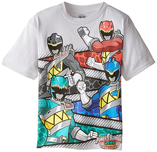Power Rangers Little Boys' Short Sleeve T-Shirt Shirt, Silver Dino, 7 (Power Ranger Pajamas compare prices)