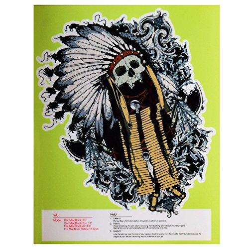 """Gam3Gear Colore del vinile dell'autoadesivo della pelle per Macbook Retina Air 13"""" - Skull Indians"""