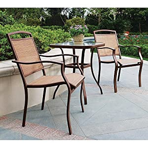 Amazoncom 3 Piece Outdoor Patio Garden Bistro Furniture