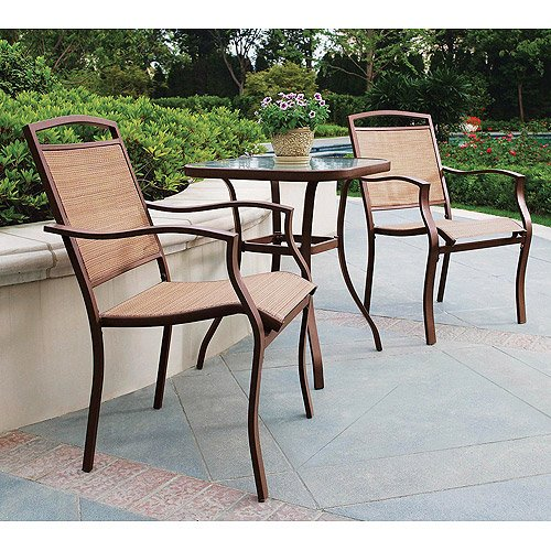 Mainstays Sand Dune 3-Piece Outdoor Bistro Set, Seats 2