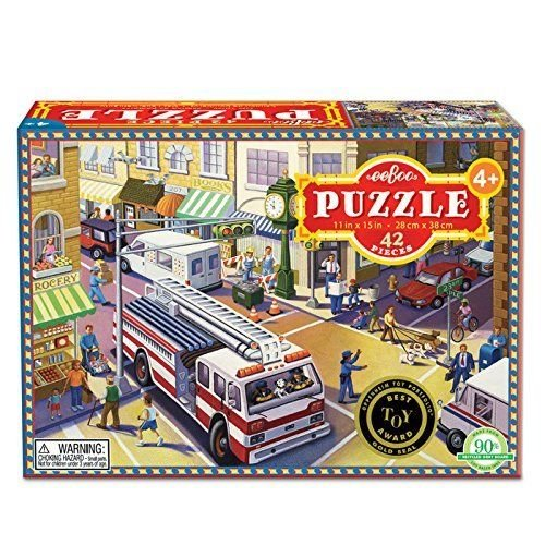 Fire Truck 42 Piece Puzzle by eeBoo