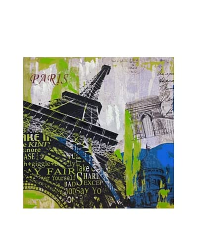 Vertuu Design Paris Skyline Giclée Canvas Artwork