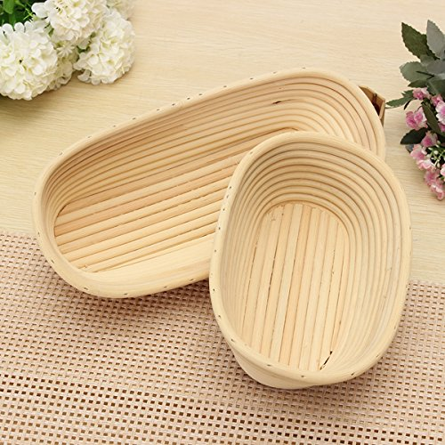 Round Oval Long Banneton Brotform Bread Proofing Proving Rattan Basket front-588097