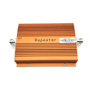 CDMA 850MHz Cell Phone Signal 3G 4G Repeater Booster Amplifier with High Gain Aerial Portable Signal Extender (Color: Orange)