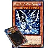 YuGiOh : YMP1-EN002 Limited Ed Malefic Blue-Eyes White Dragon Secret Rare Card - ( Movie Pack Yu-Gi-Oh! Single Card )