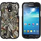 Premium Protection Slim Light Weight 2 piece Snap On Non-Slip Matte Hard Shell Rubber Coated Rubberized Phone Case Cover With Design For Samsung Galaxy S4 Mini ( i9190/ i9192/ i9195/ i9198) - Autumn Camouflage - Black - Retail Packaging