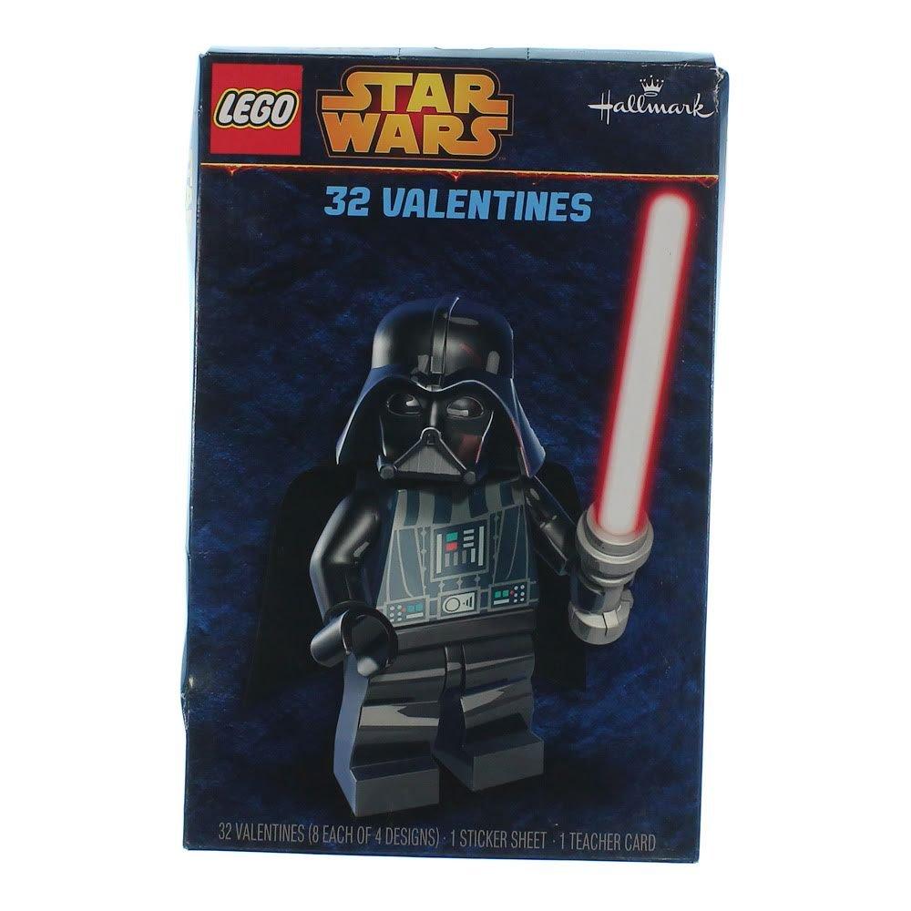Lego Star Wars 32 Valentines Cards 1 Sicker Sheet 1 Teacher Card 8 Each Of  4 Designs