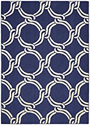 Garland Rug Large Twisted Rope Area Rug, 5 x 7\', Indigo/Ivory