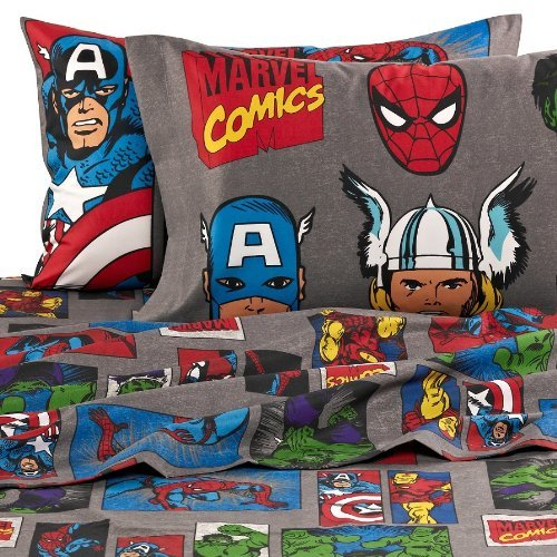 Fantastic Deal! Marvel Heroes Super Heroes Full Size Sheets Set - Avengers