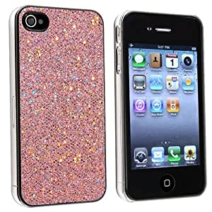 SLIM FIT PINK BLING GLITTER HARD CASE COVER FOR iPhone 4 4G 4S 4GS