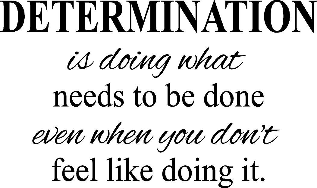 Determination- motivational quote fitness life gym vinyl wall decal