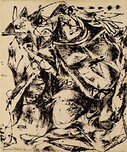 The High Quality Polyster Canvas Of Oil Painting 'Jackson Pollock,No.6,1952' ,size: 30x36 Inch / 76x91 Cm ,this Imitations Art DecorativeCanvas Prints Is Fit For Garage Artwork And Home Decor And Gifts