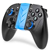 BEBONCOOL Wireless Pro Controller for Nintendo Switch, Bluetooth switch Controller with Turbo Function for Nintendo Switch, and Android Bluetooth Controller (Color: Black & Blue)
