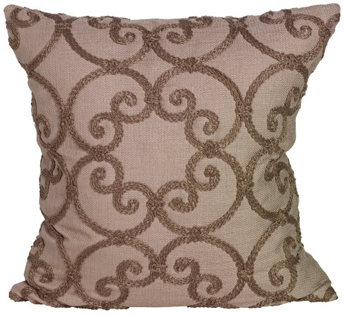 "Leiden Taupe 18"" Square Down Throw Pillow front-975739"