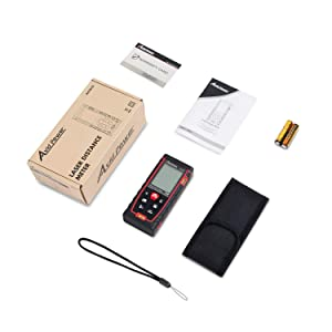 Laser Distance Measure 229Ft M/In/Ft Digital Laser Meter with Mute Function, 2 Bubble Levels, Backlit LCD and Pythagorean Mode, Measure Distance, Area and Volume - Battery Included