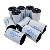 AA to D Size Battery Box, Battery Case,Sackorange Battery Adapter Spacers Case for rechargeable battery (10 pcs) (Color: black)