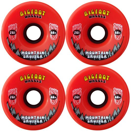 BIGFOOT Longboard Wheels 76mm CRUISERS Orange + Abec 9