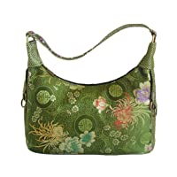 Fall with retro handbags , green