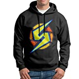 Super Metroid Samus Logo Mens Pullover Black Hoody (Color: Black, Tamaño: XL)