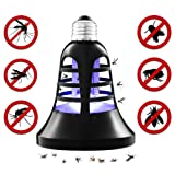 Siuyiu Mosquito Trap Killer Insect Bug Electric Fly Zapper Bulb Indoor/Outdoor UV and LED Lamp | 2-in-1 Night Light | Screw-In Design | 200 Sq. Ft. Protection | Patio, Porch, Deck Use (Color: E26 Bug Zapper Bulb)