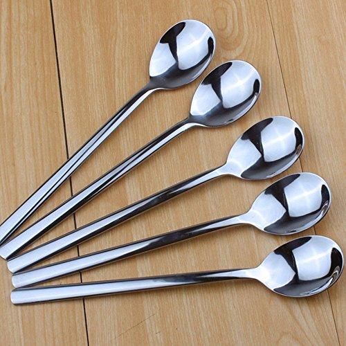 liuna de haute qualité cuillères en acier inoxydable Vaisselle cuillères à long manche (5pièces)