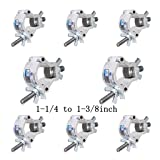 Stage Light Clamp (8pcs) Aluminum Mounting 1-1/4 to 1-3/8inch (33-35mm) OD Tubing/Pipe for Led Par Light Max Load 165lb (Color: 8 packs)