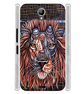 Lion Graphics Soft Silicon Rubberized Back Case Cover for Xolo One HD